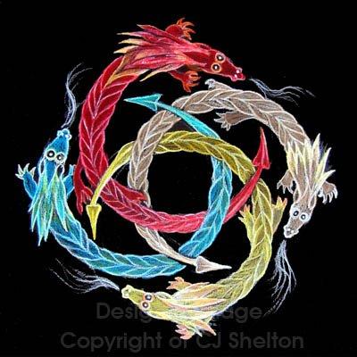 """""""Dragon Wheel"""" by CJ Shelton"""
