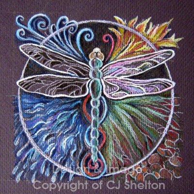 """Elemental Dragonfly"" by CJ Shelton"
