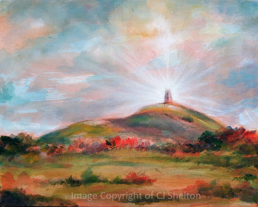"""Beacon of Hope - Glastonbury Tor"" by CJ Shelton"
