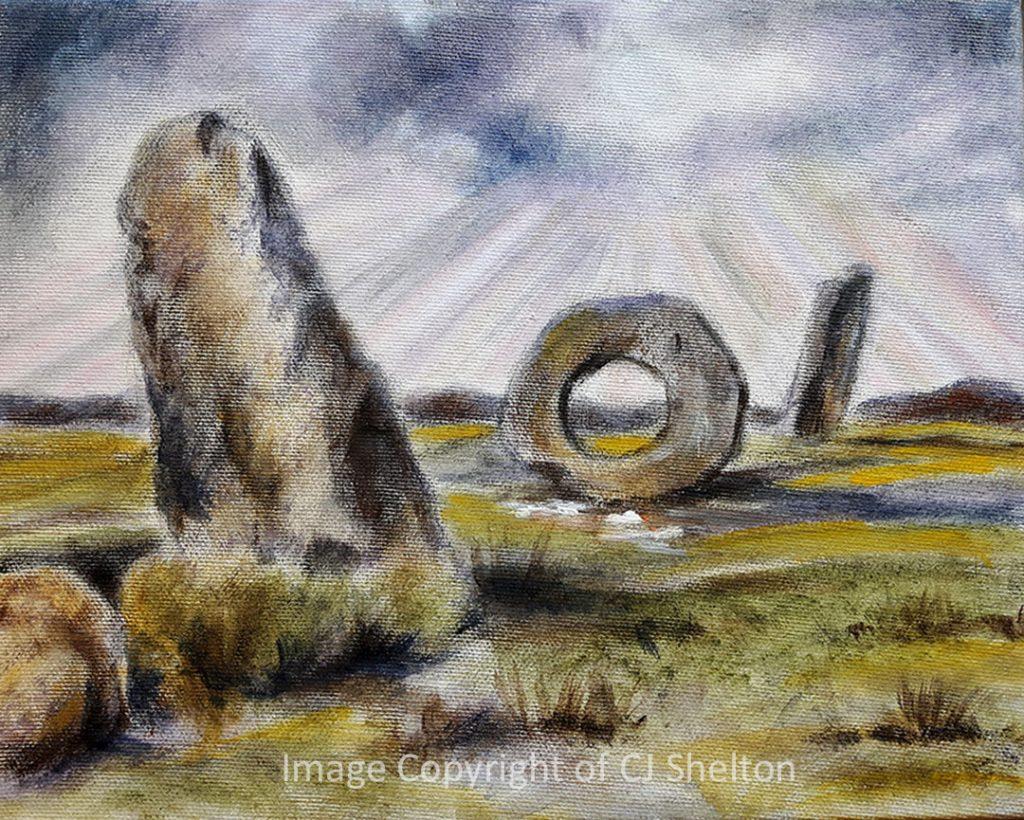 """""""Men an Tol Stones - Cornwall"""" by CJ Shelton"""