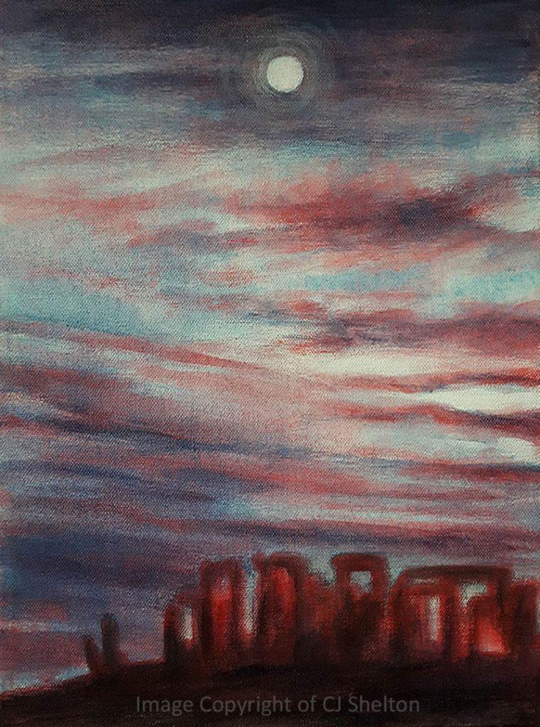 """""""Moonrise at Stonehenge"""" by CJ Shelton"""