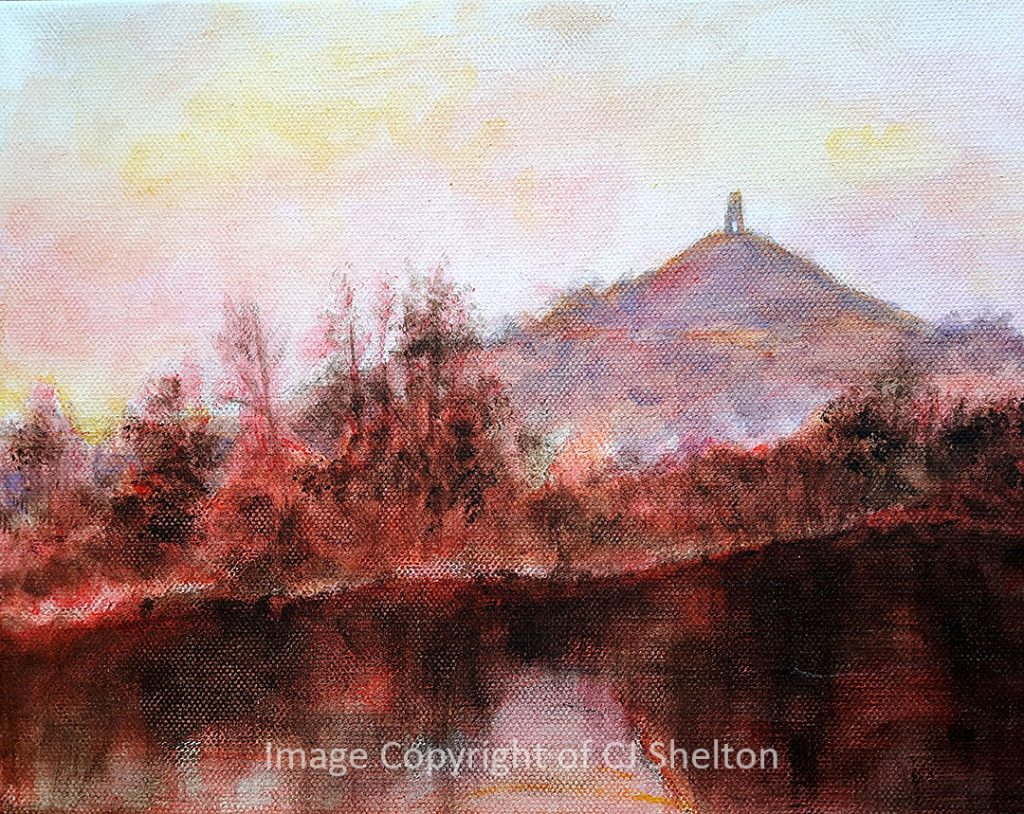 """Reclection at Glstonbury Tor"" by CJ Shelton"