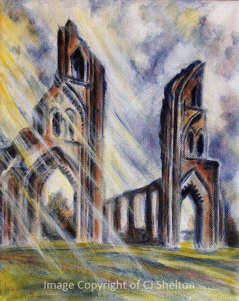 """Ruins at Glastonbury Abbey"" by CJ Shelton"
