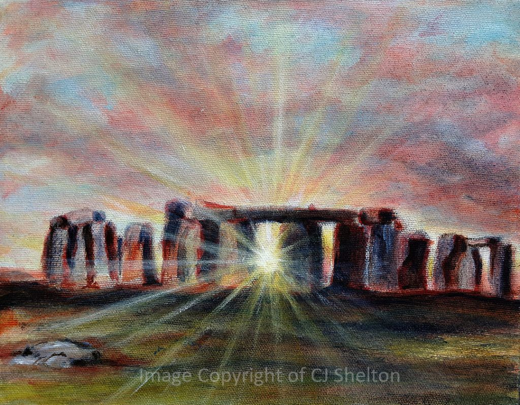 """Solstice Sun at Stonehenge"" by CJ Shelton"
