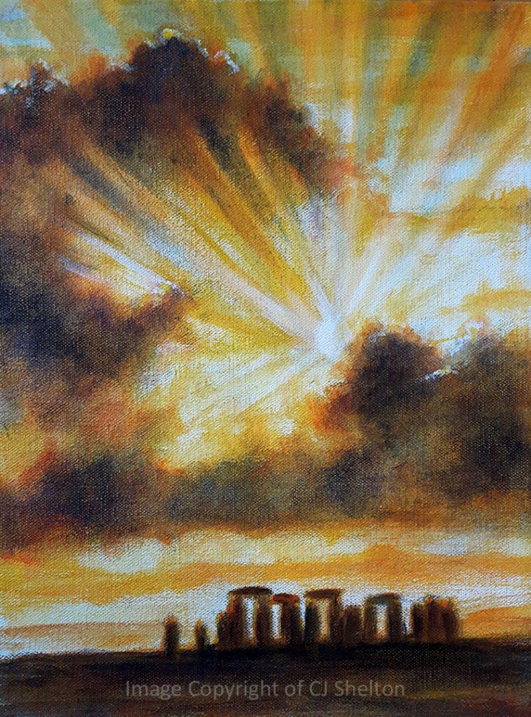 """""""Sunrise at Stonehenge"""" by CJ Shelton"""