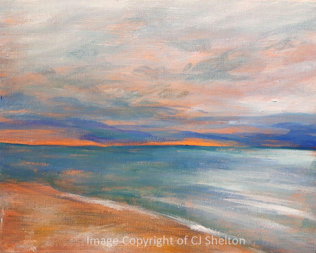 """Sunset over Lake Huron"" by CJ Shelton"